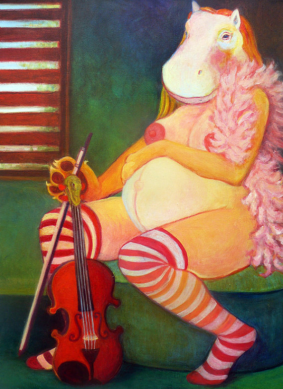 mother. violinist. hippo.